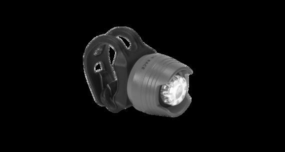 RFR Diamond HQP Lampka rowerowa przednia white LED szary/czarny